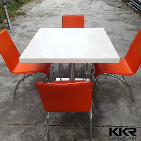 China Restaurant Solid Surface Stone Marble Table Top China - Stone picnic table set
