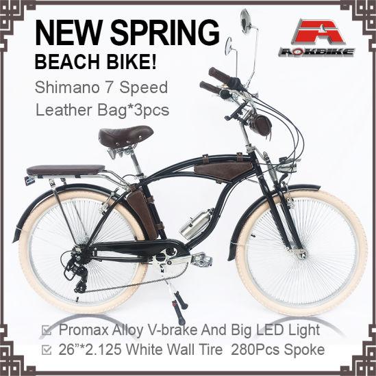 "Beach Cruiser 26/""x 45mm Rear Fat Wheels with 36 spokes Coaster Brake Black"