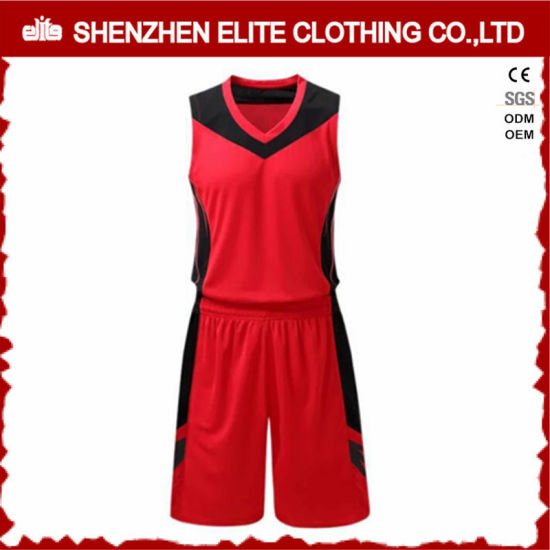54dac9d8e11 Wholesale Custom Logo Red and Black Basketball Jersey (ELTSJI-25) pictures  & photos