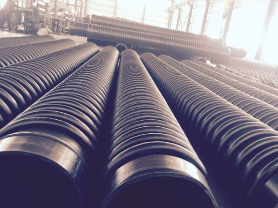 Smooth Internal Surface Corrugated PE HDPE Pipes