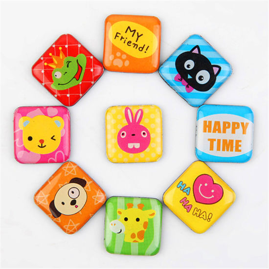 Promotional Gift Customized Silicone Fridge Magnet Fluorescent Flag Art Sticker Glitter pictures & photos