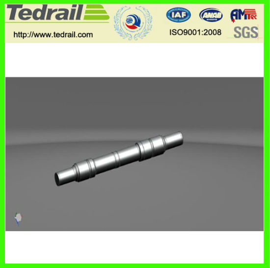 Railway Wheel Axle for Railway Locomotive and Wagons Proved by CRC