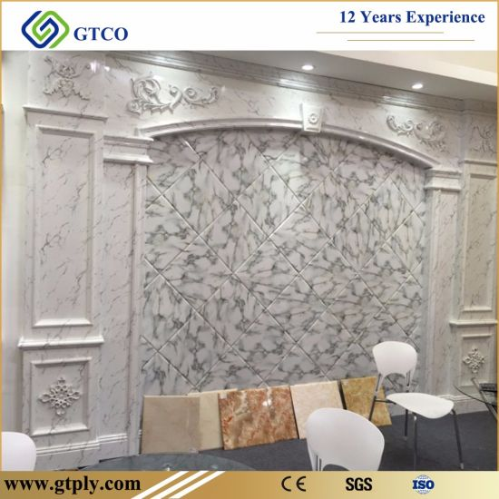 UV Coated PVC Marble Sheets pictures & photos
