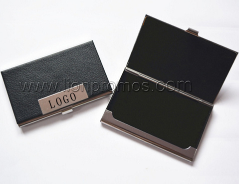 Custom PU Leather Stainless Steel Business Card pictures & photos