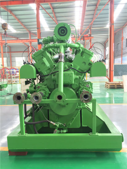 Natural Intake Water Cooling 600kw Biogas Generator Set with Electric Engine