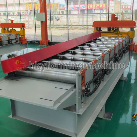 Color Steel Corrugated Roof Roll Forming Machine Line in Botou City pictures & photos
