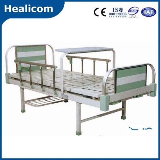 Aluminum Alloy Two Function Manual Medical Bed