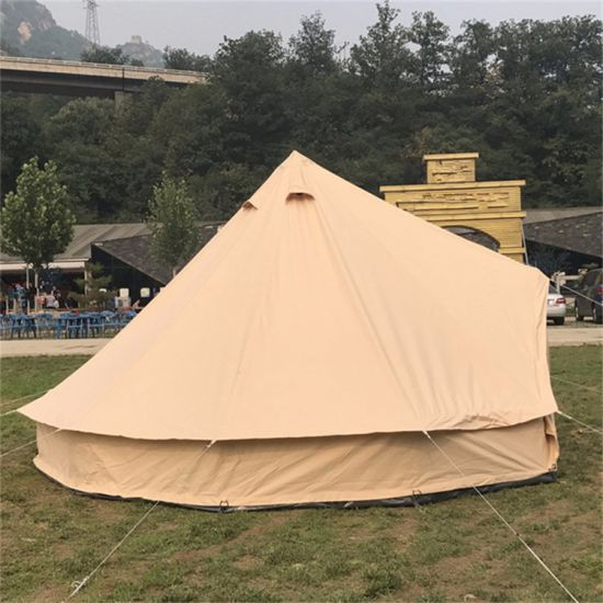 Windproof Family Large C& Teepee Event Cotton Canvas Tent & China Windproof Family Large Camp Teepee Event Cotton Canvas Tent ...