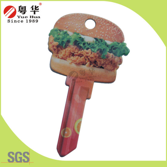 Factory Price Wholesale Sales Custom Colorful Groovy Key Blank for Gifts
