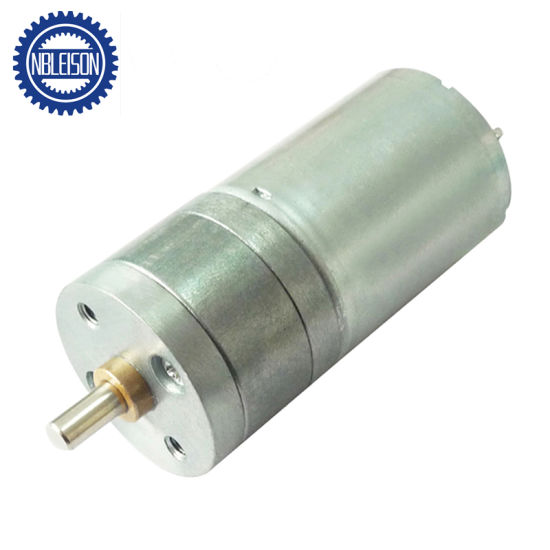 25mm 6V 12V Low Speed Brushed Spur DC Gear Motor pictures & photos