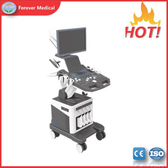 Factory Price 4D Color Doppler Trolley Ultrasound Scanner with Visual Abortion Probe