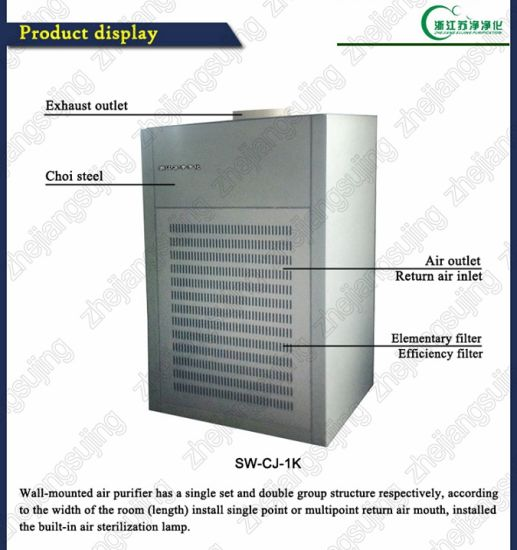 Sw-Cj-1k High Efficiency Energy-Efficient Wall Mounting Type Air Cleaner pictures & photos