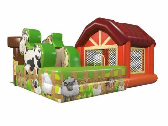 New Design Farm Inflatable Bouncer Combo Chb1157