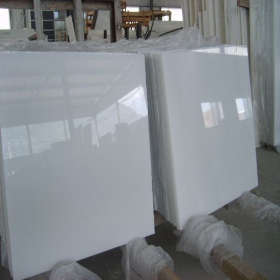 Cheap Polished Pure White Marble for Flooring Tile/Wall Tile