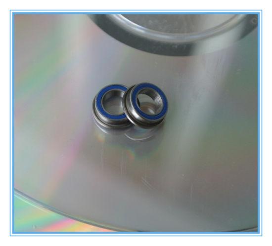F694-2RS Black 4x11x4 mm 4 PCS Metal Flanged Rubber Sealed Ball Bearing