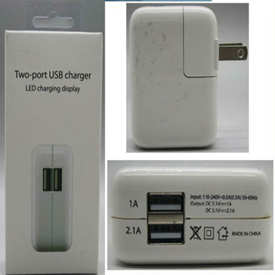 2 Port Folding USB Wall Charger Adapter