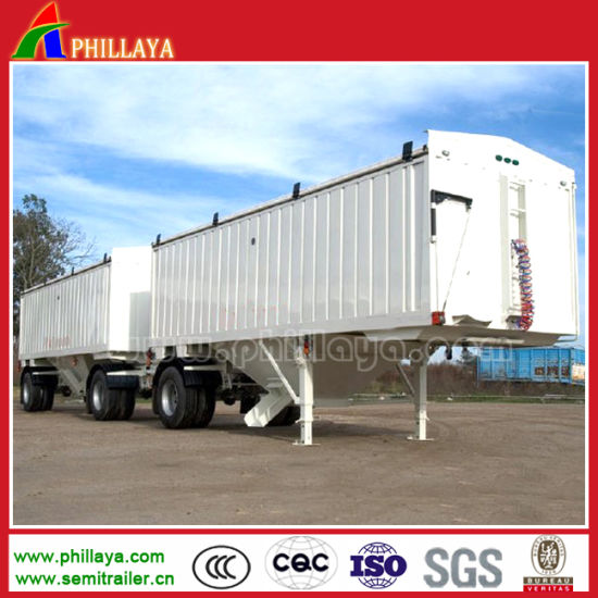 Superlink/ Interlink Semi Curtainside Box Trailer with PVC Tarpaulin pictures & photos