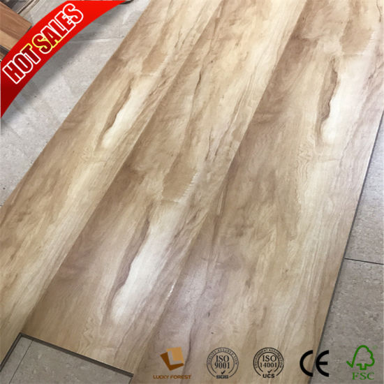 China Cheap Price Hand Scraped Surface 123mm Iran Laminate Flooring