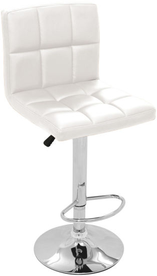 Classic Modern Hot Sale White Leather Bar Chairs Zs-6021