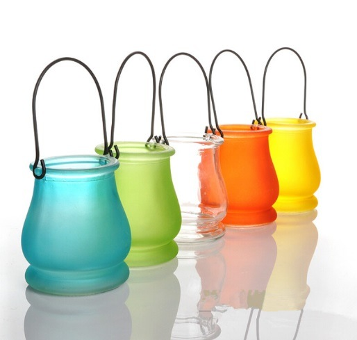 Hot Sell Glass Jar Lantern Candle Holders for Halloween Festival pictures & photos