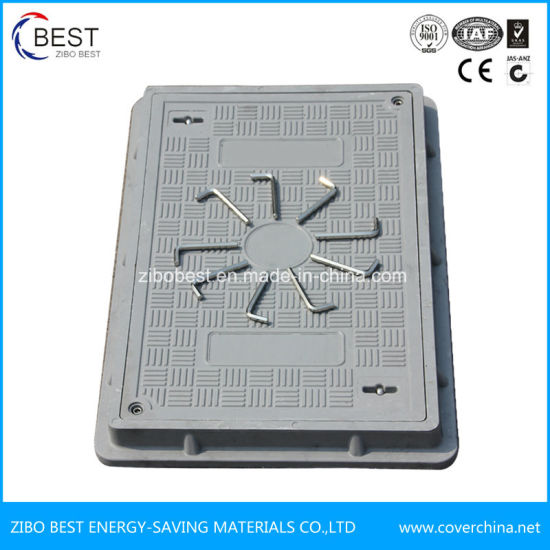 Square Composite Fiberglass FRP SMC Manhole Covers with Frame pictures & photos
