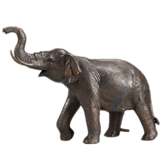 Hot Item Cast Small Antique Bronze Elephant Sculpture For Sale