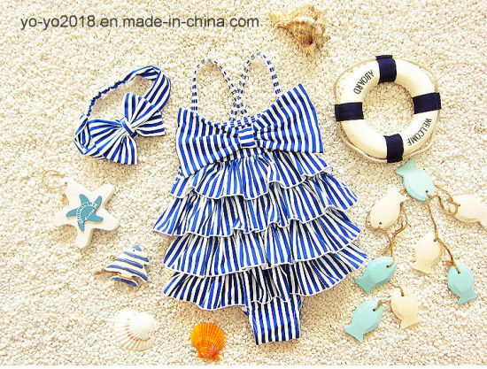 Baby Children′s Swimsuit Sun Protection Quick Drying Baby Girl Swimwear pictures & photos