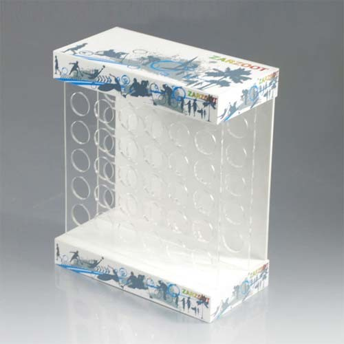 4c Printing Acrylic Desk Top Display Stands, Umbrella Products Display Showcase