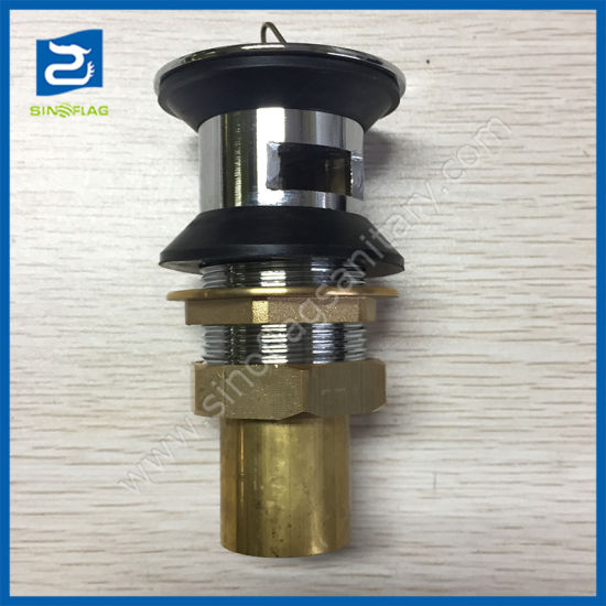 China Brass Basin Waste with Plug Bathroom Drain with
