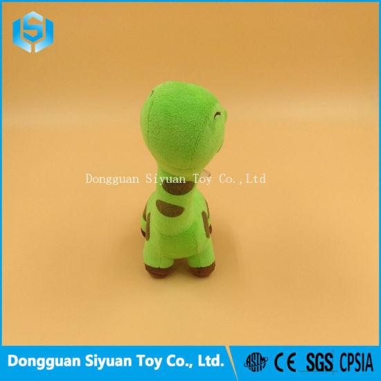 China Dongguan Factory Small Mini Green Giraffe Plush Stuffed Toy
