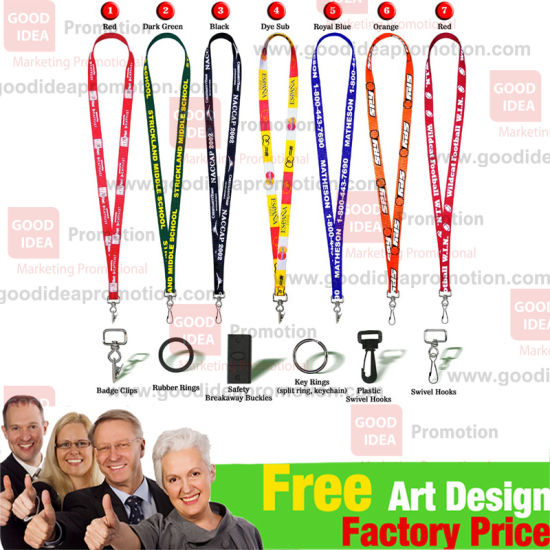 Woven Polyester Lanyard with Printing Logo pictures & photos