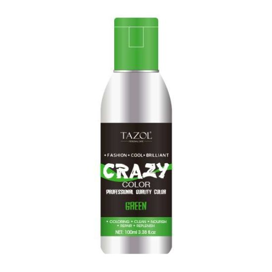 Tazol No Ammonia Semi-Permanent Hair Color Green 100ml pictures & photos