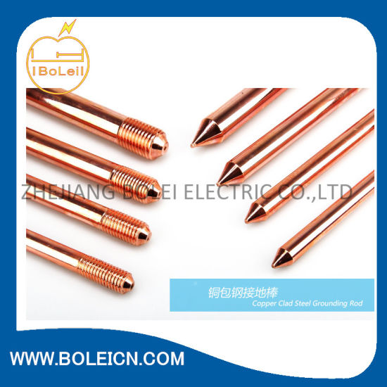 "5/8"" X 8′ Copper Clad Ground Rod for Tower Grounding pictures & photos"
