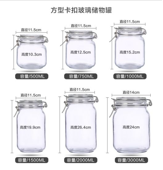 Snap Joint Glass Storage Jar Jam Bottle for Home pictures & photos