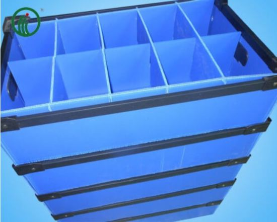 Color ESD Corrugated Box PP Turnover Plastic Box with Separationcolor