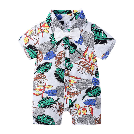 Infant Clothing Boy Shirt Short-Sleeved Jumpsuit Baby Clothes