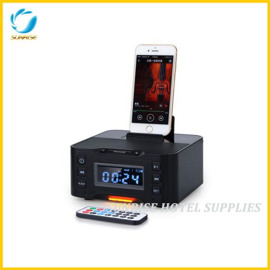 Hotel Digital LCD Display Alarm Clock Docking Station