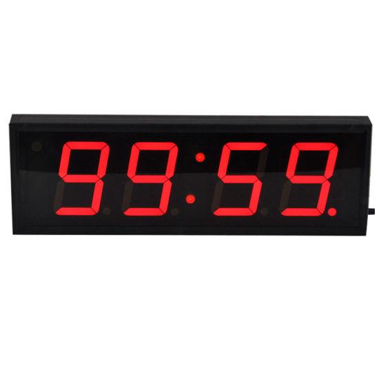 4 Inch 4 Digit LED Digital Wall Clock Countdown Timer