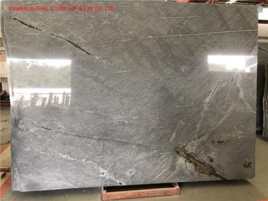 White/Black/Beige/Quartzite/Granite Stone Slab Atlantic Lava Galaxy Silver Gray Granite Cut to Size for Wall/Floor Tiles