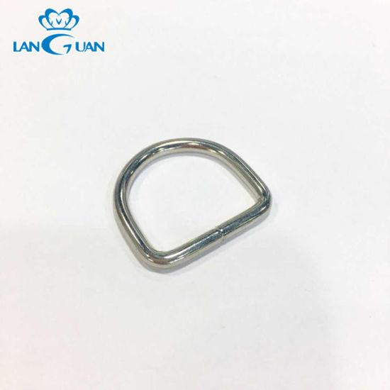 Hot Sale Metal Zinc Alloy D Ring Buckle for Bag Part Accessories