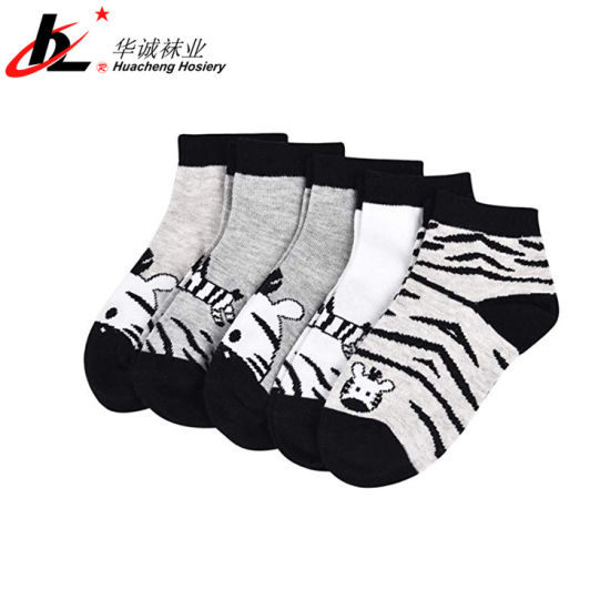 Customized Logo Jacquard Kid Boy Children Funny Bamboo Socks Anti Slip