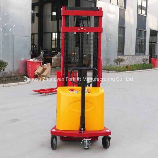 Cheap Semi Electric Pallet Stacker Stacking Forklift 1ton 3meter Customized Leg Price