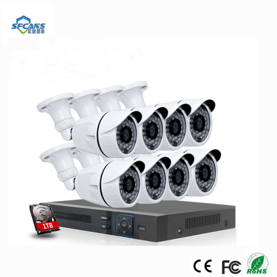 8 Channel H. 264 Ahd 1080P CCTV IP Cameras Wired Kits 8 CH Home Video Surveillance Cameras System pictures & photos