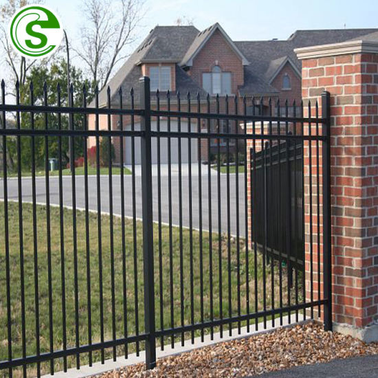 Black Color Garden Fencing Panels Small Fence For Front Yard