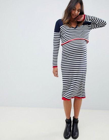 4772731b23fed China Wholesale Women′s Striped Maternity Dress - China Maternity ...