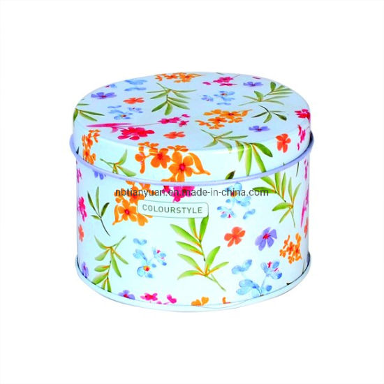 Metal Cake Cookie Candy Mint Storage Container Tin Box