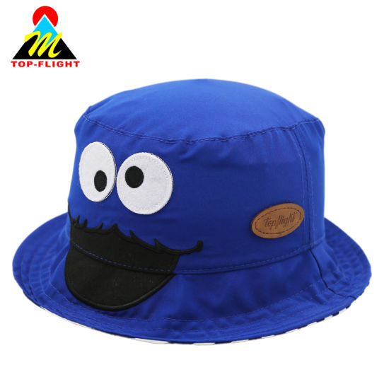 New Design Promotional Cartoon Embroidered Children Bucket Hat