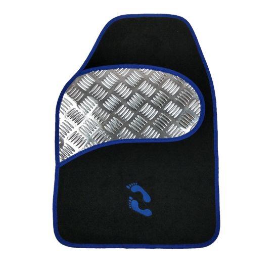 Foot Carpet Car Mat with Aluminum