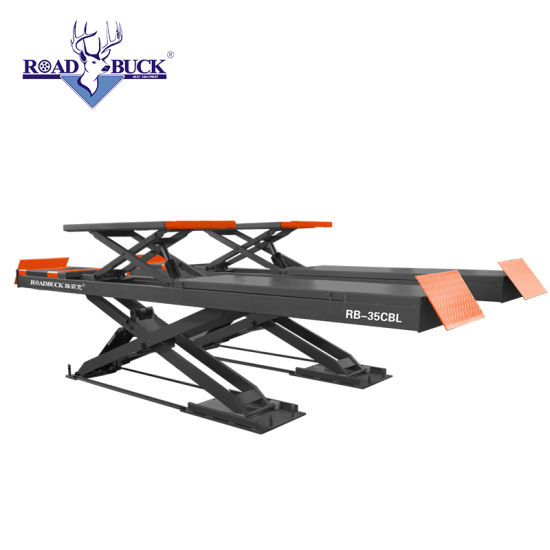 Professional Ultrathin Double Level Scissor Lift for Four Wheel Wheel Alignment/Used Home Garage Car Lift for Sale for Sale