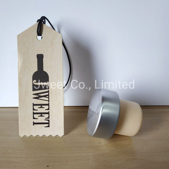 Aluminum Top Synthetic T Cork Stoppers for Liquor Bottle